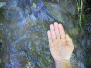 Reiki water hand